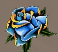 Цветы тату эскиз 1