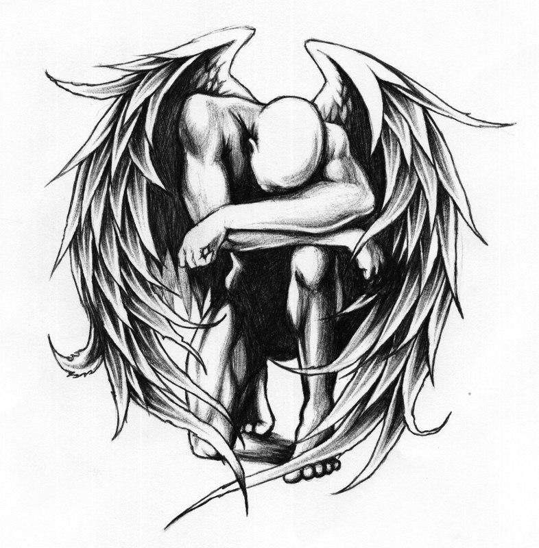тату эскизы  ангелов