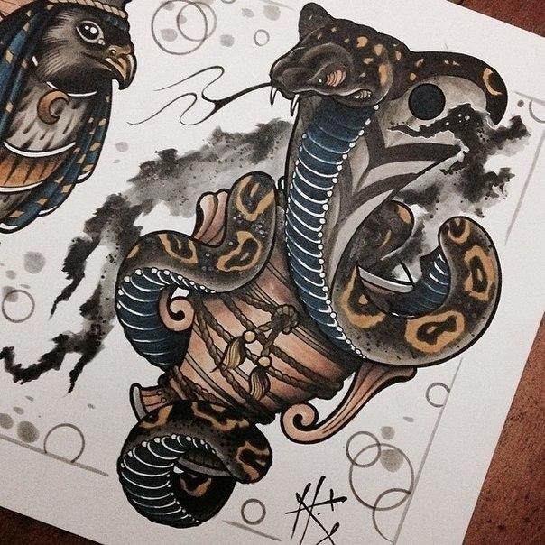 43Тату кобра эскизы