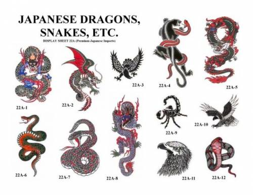 Надписи для тату с драконом